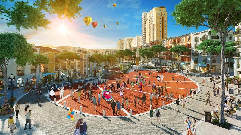 sun grand city hillside quảng trường