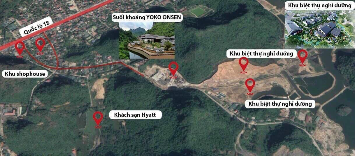 vị trí dự án sun onsen village